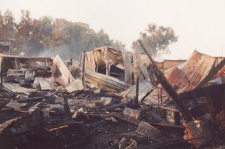 Part of the destruction at Joe Slovo, Johannesburg, on July 15th 2001
